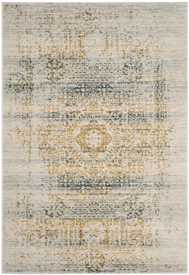 Mccranie Ivory/Blue Area Rug Rug Size: Square 6'7
