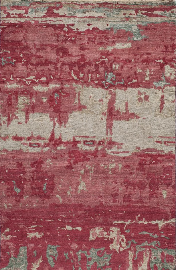 Moises Hand-KnottedRed Area Rug Rug Size: Rectangle 3'6
