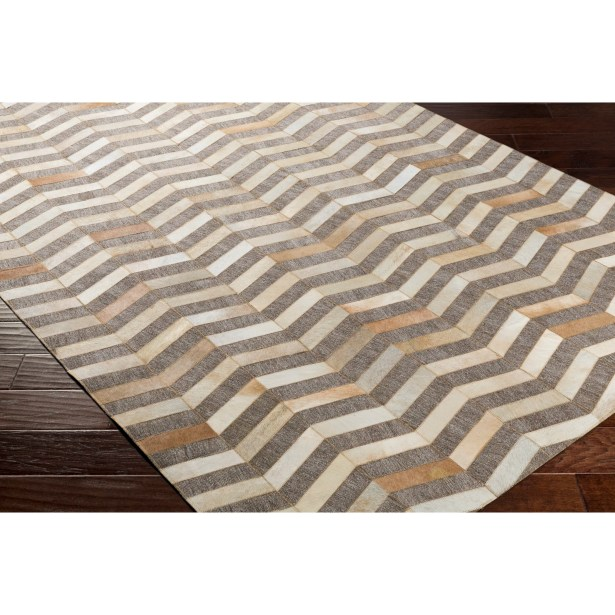 Armando Hand-Crafted Chevron Yellow/Neutral Area Rug Rug Size: Rectangle 5' x 7'6