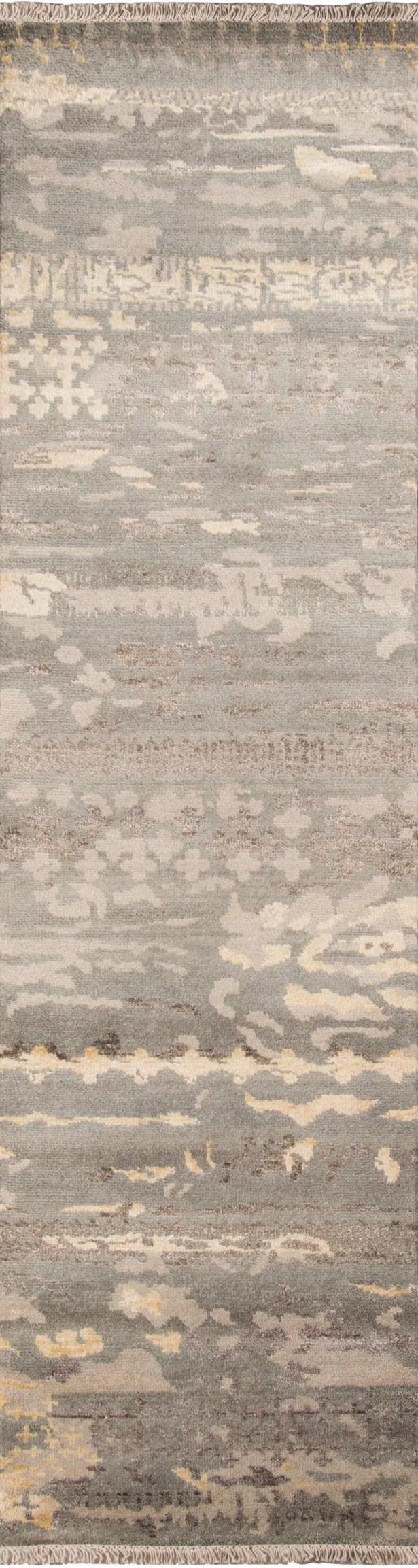 Moises Hand-KnottedGray Area Rug Rug Size: Runner 2'3