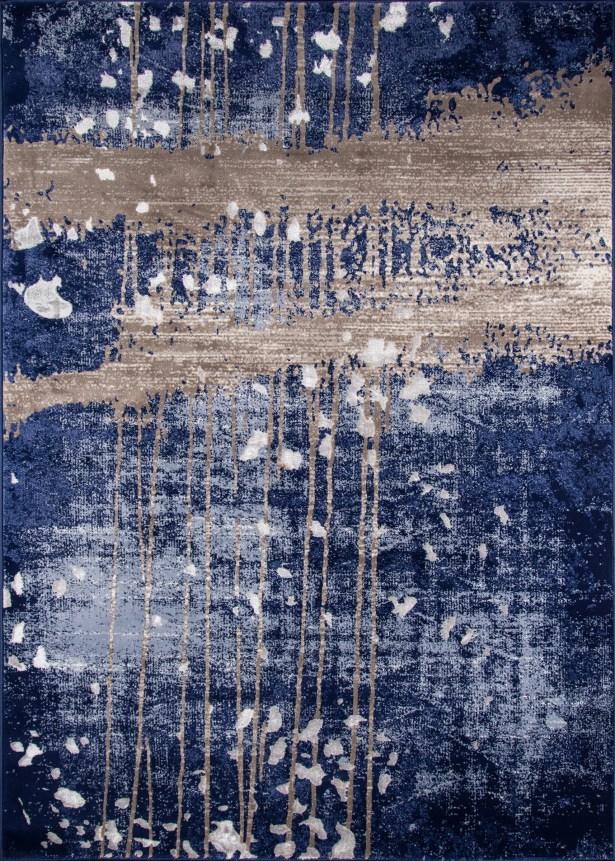 Pierce Blue/Gray Area Rug Rug Size: Rectangle 3'3