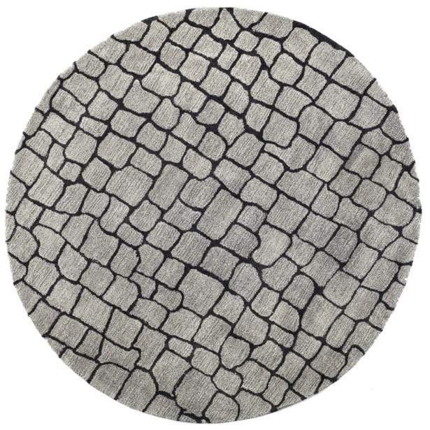 Aliza Hand-Tufted Silver/Gray Area Rug Rug Size: Rectangle 6' x 9'