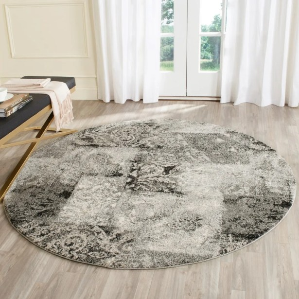 Lambert Area Cream/Gray Rug Rug Size: Rectangle 6' x 9'