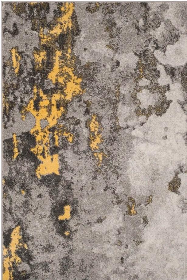 Costa Mesa Gray/Yellow Area Rug Rug Size: Square 6'