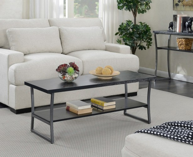 Lyon Coffee Table Color: Black Woodgrain