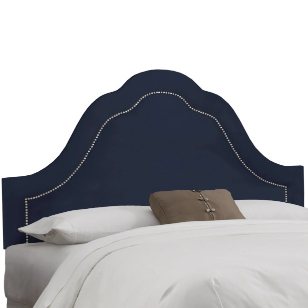 Brunella Arch Inset Nail Button Upholstered Panel Headboard Upholstery: Eclipse, Size: Twin