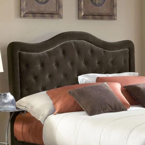 Broxburne Upholstered Panel Headboard Size: King, Upholstery: Chocolate