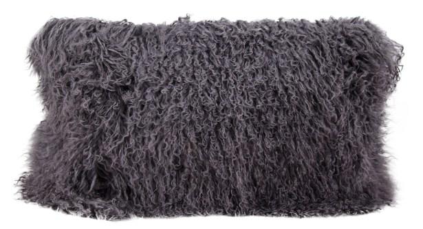 Surrey Faux Fur Lumbar Pillow Color: Silver Gray