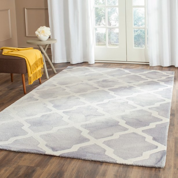 Ashanti Hand-Tufted Grey/Ivory Area Rug Rug Size: Rectangle 3' x 5'