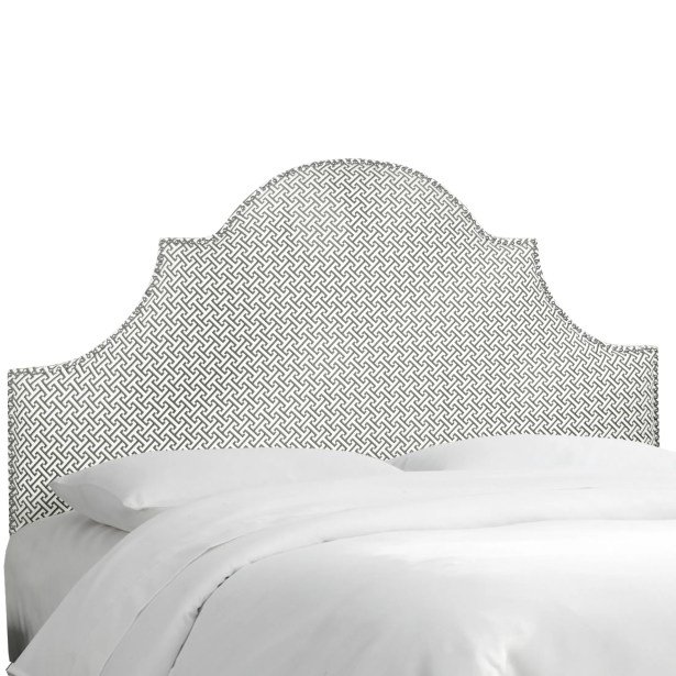 Brett Upholstered Panel Headboard Size: Twin, Upholstery Color: Cross Section Charcoal