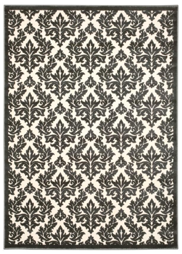 Hartz Ivory/Gray Area Rug Rug Size: Rectangle 5'3