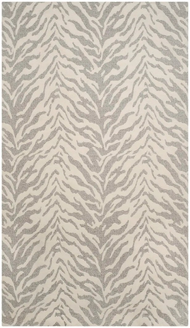 Kempston Hand-Woven Gray/Beige Area Rug Rug Size: Rectangle 4' x 6'