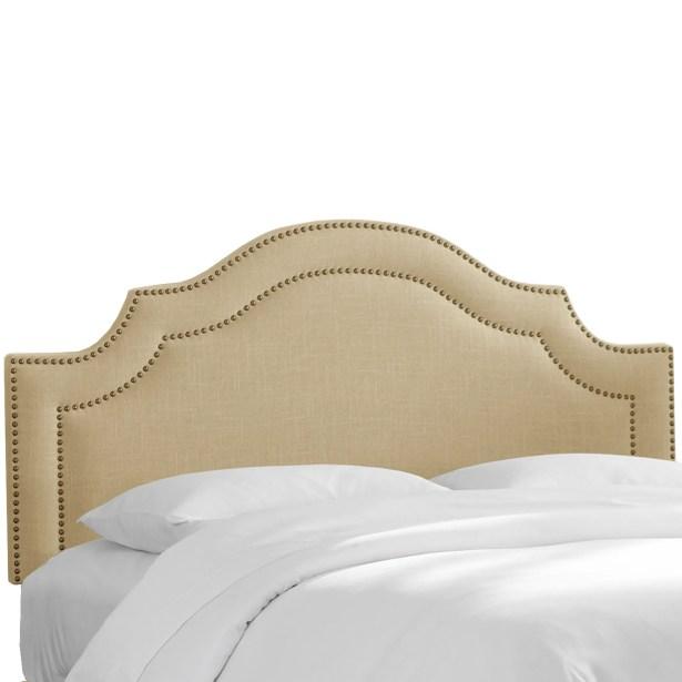 Fleischmann Arch Upholstered Panel Headboard Upholstery: Sandstone, Size: Full