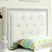 Algol Upholstered Panel Headboard Size: Twin, Upholstery: White