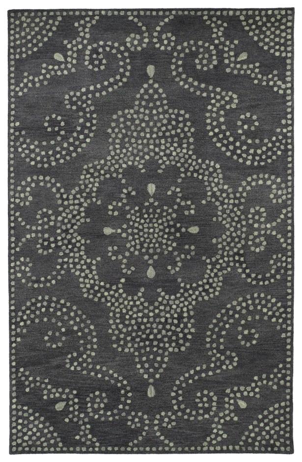 Bashford Hand Tufted Gray Area Rug Rug Size: Rectangle 9'6