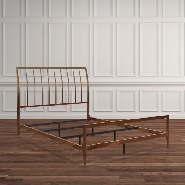 Albina Metal Sleigh Bed Size: Full