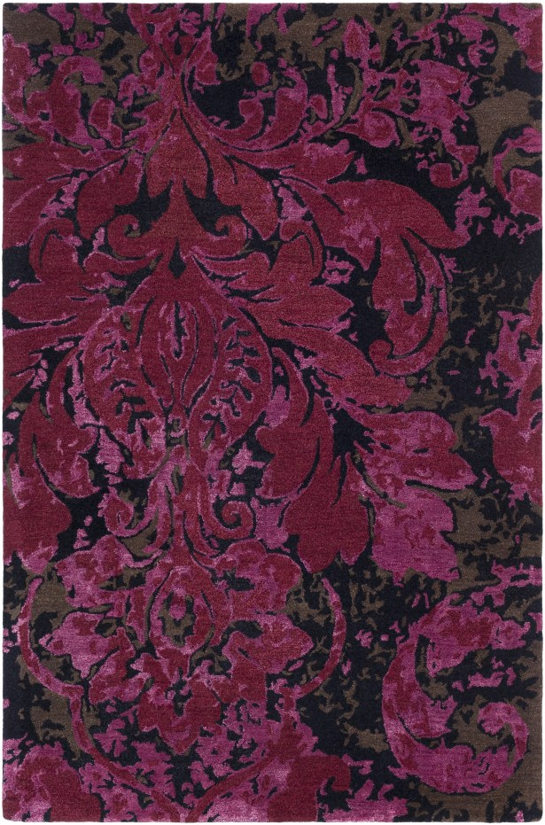 Terry Hand-Tufted Garnet/Burgundy Area Rug Rug Size: Rectangle 3'3
