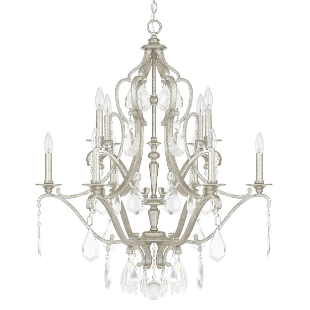 Destrey 10-Light Chandelier Finish: Antique Silver