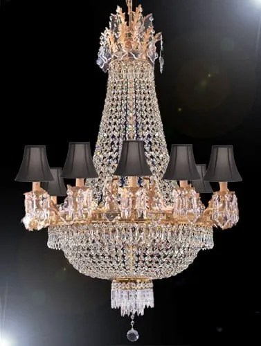 Montana 15-Light Empire Chandelier Shade Color: Black