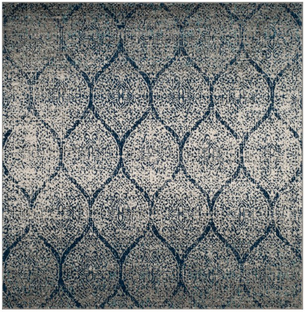 Grieve Blue/Gray Area Rug Rug Size: Square 6'7