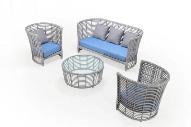 Chidi 4 Piece Sofa Set with Cushions