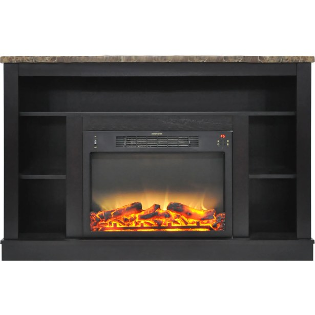 Eudora TV Stand with Electric Fireplace Finish: Black Coffee