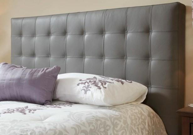 Estelle Upholstered Panel Headboard Size: Double, Upholstery: Grey