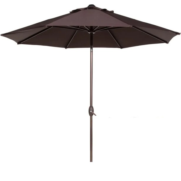 9' Market Umbrella Fabric Color: Chocolate