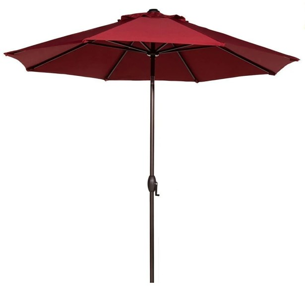 9' Market Umbrella Fabric: Red