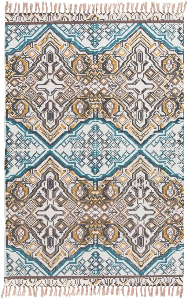 Blairsville Hand-Woven Blue/Brown Area Rug Rug Size: Rectangle 5' x 7'6
