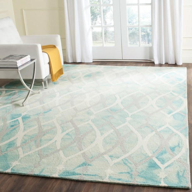 Clements Hand-Tufted Green/Ivory/Gray Area Rug Rug Size: Rectangle 9' x 12'