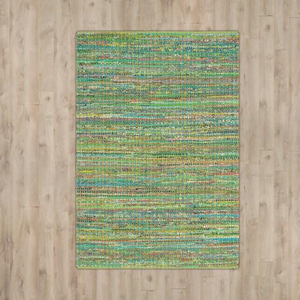 Anaheim Hand-Tufted Green Area Rug Rug Size: Rectangle 4' x 6'