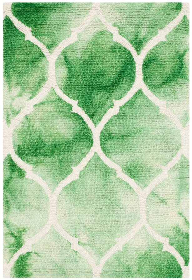 El Segundo Hand-Tufted Green/Ivory Area Rug Rug Size: Runner 2'3
