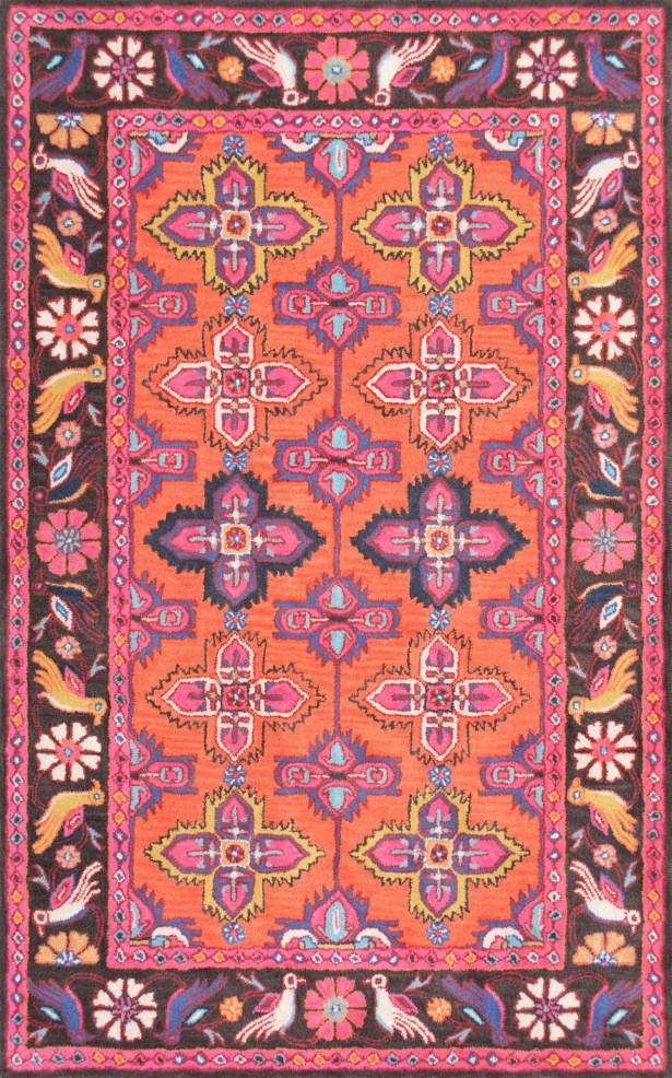 Willia Hand-Tufted Pink Area Rug Rug Size: Rectangle 5' x 8'