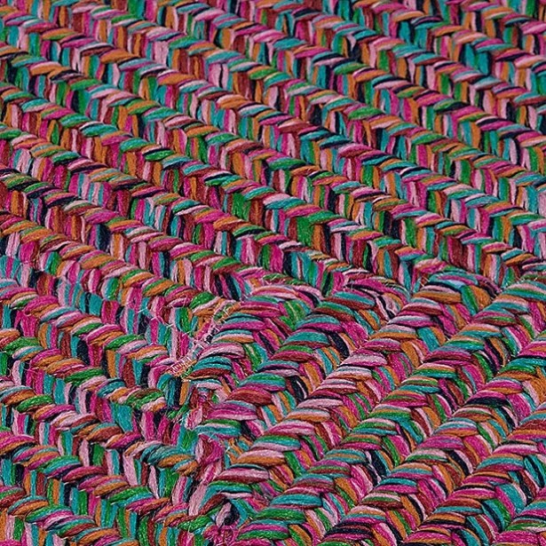 Huntington Hand-Woven Pink/Green Area Rug Rug Size: Rectangle 10' x 13'