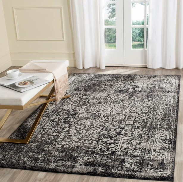 Elson Black/Gray Area Rug Rug Size: Rectangle 12' x 18'