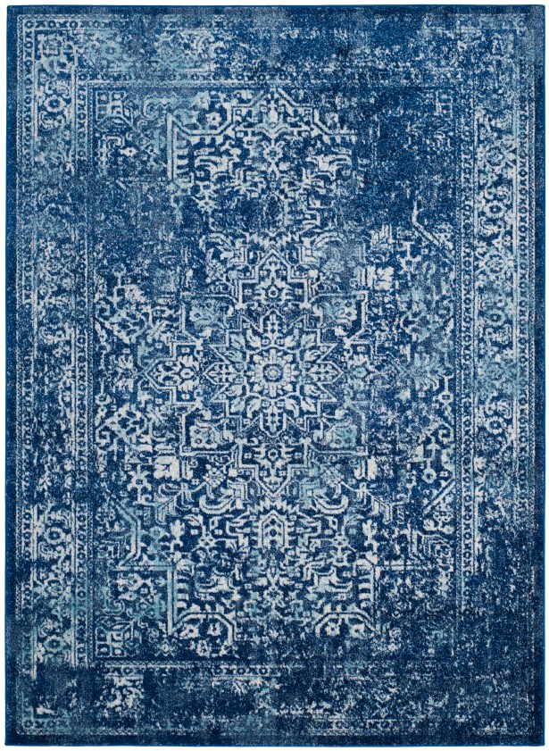 Elson Navy Area Rug Rug Size: Rectangle 3' x 5'