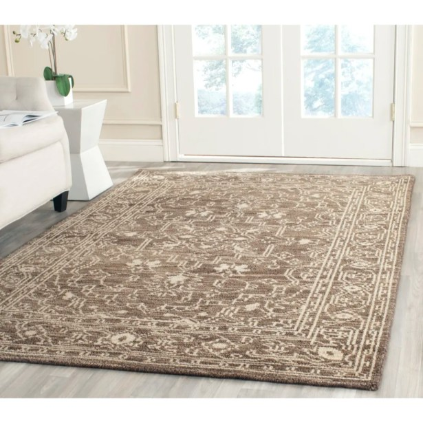Maffei Hand-Woven Wool Brown/Beige Area Rug Rug Size: Rectangle 3' x 5'