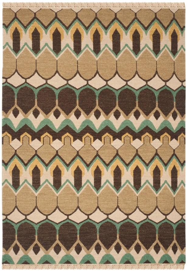 Saint-Paul Beige / Brown Area Rug Rug Size: Rectangle 6' x 9'