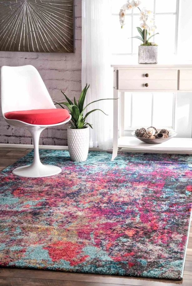 Taina Pink/Blue Area Rug Rug Size: Rectangle 5' x 8'