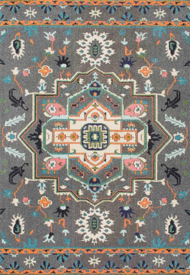 Kharbanda Gray Area Rug Rug Size: Rectangle 5'3