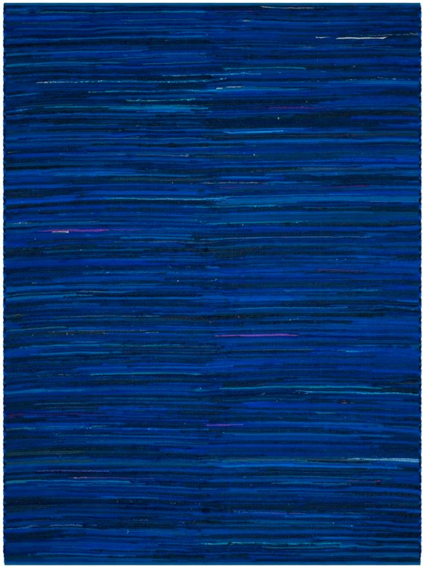 Sanabria Hand-Woven Blue Area Rug Rug Size: Rectangle 8' x 10'