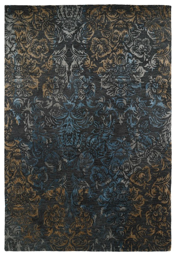 Lincolnton Hand-Tufted Black Area Rug Rug Size: Rectangle 3'6
