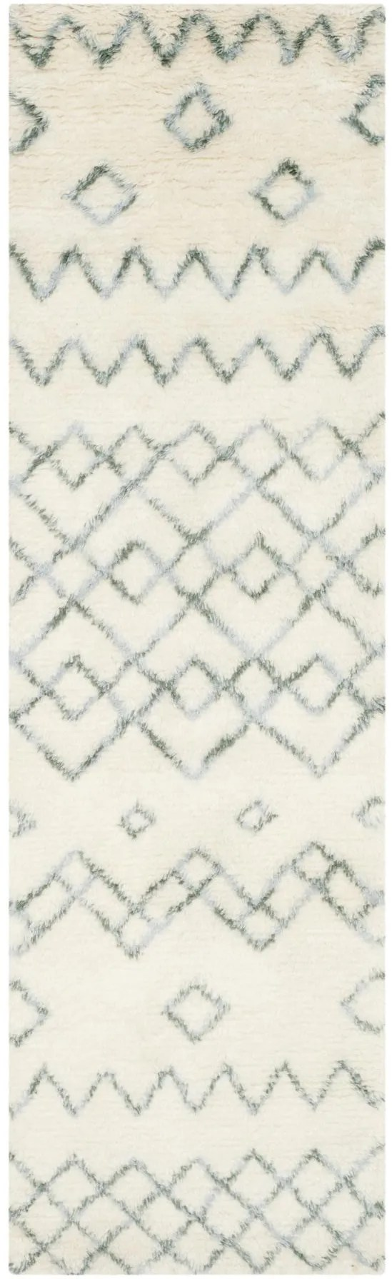Lockheart Geometric Hand-Tufted Beige/Blue Area Rug Rug Size: Rectangle 4' x 6'