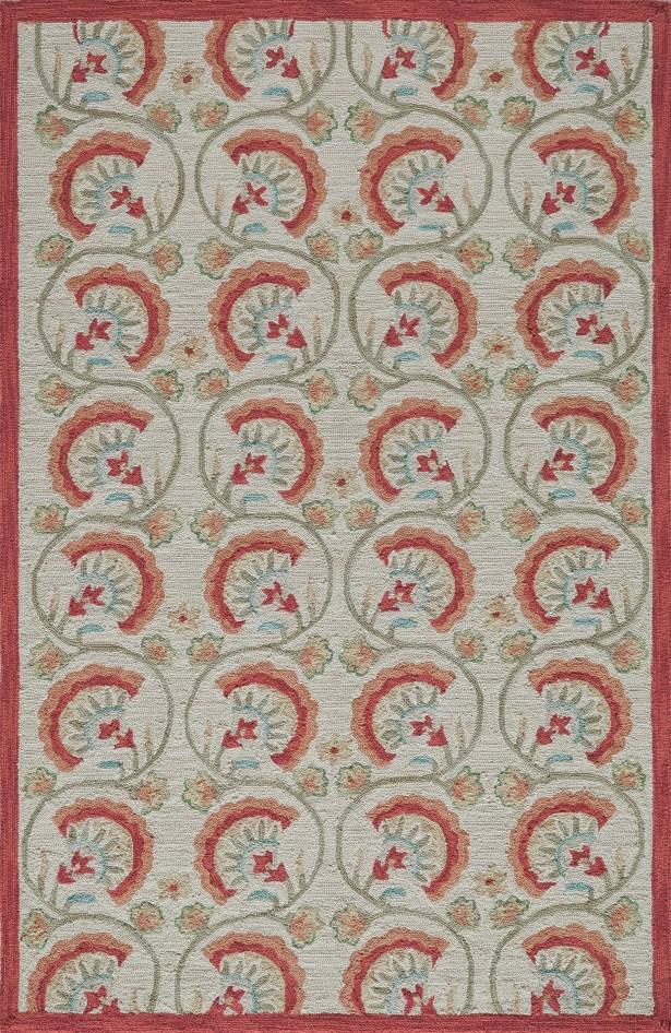 Indigo Hand-Woven Red/Beige Area Rug Rug Size: Rectangle 8' x 10'