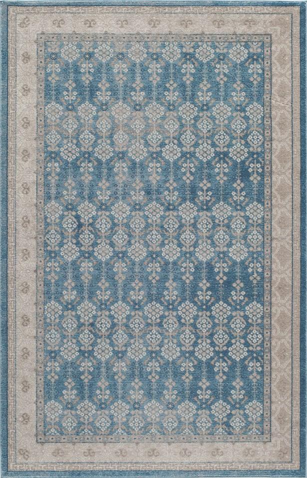 Scarlett Blue Area Rug Rug Size: Rectangle 9'3