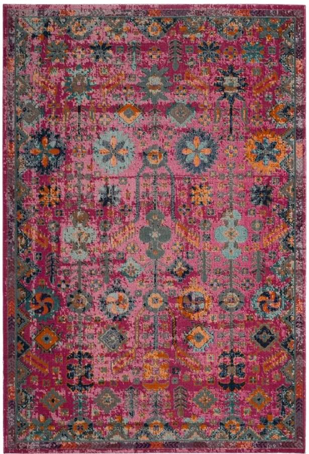 Bunn Oriental Pink Area Rug Rug Size: Rectangle 4' x 6'