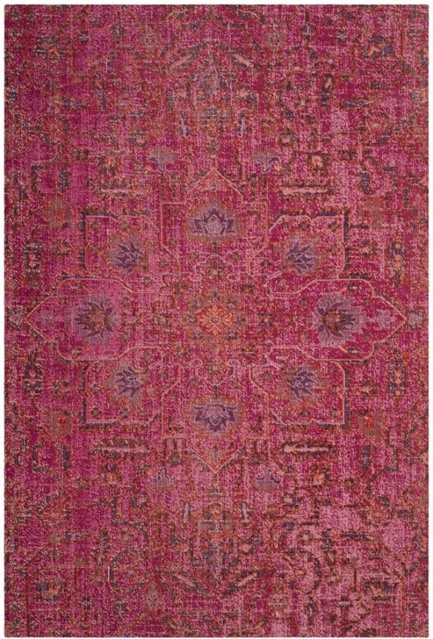 Bunn Rectangle Pink Area Rug Rug Size: Rectangle 5'1