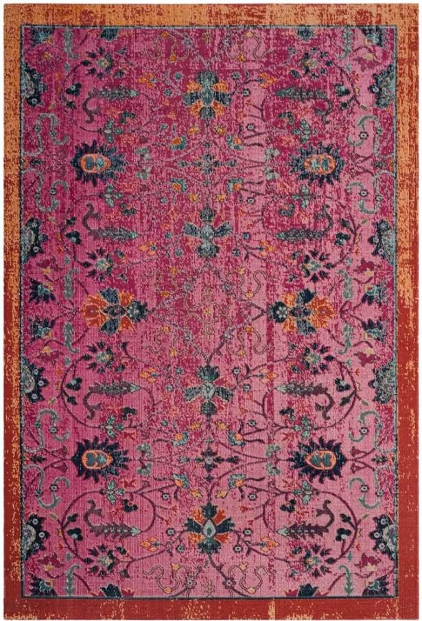 Bunn Cotton Pink Area Rug Rug Size: Rectangle 8' x 10'
