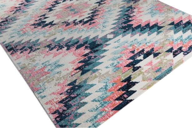 Nichole Pink/Beige Area Rug Rug Size: Rectangle 9'3